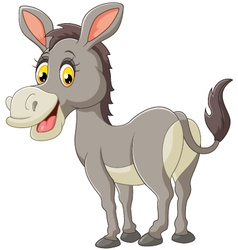Cartoon donkey smile and happy vector