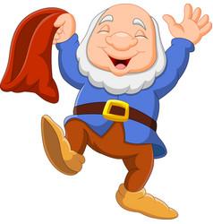 Cartoon happy dwarf vector