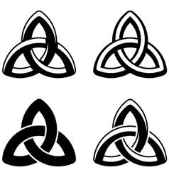 Celtic knot black white symbols vector image