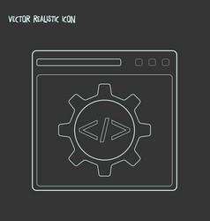 code optimization icon line element vector image