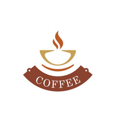Coffee cup abstract logo vector