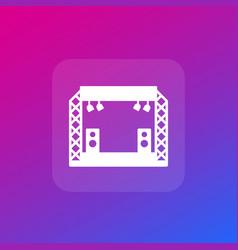 concert stage scene icon vector image