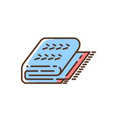 Cuddly blue blanket rgb color icon vector
