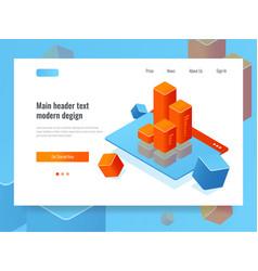 Customer relationship management concept webpage vector