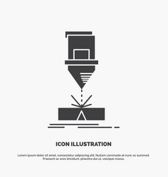 Cutting engineering fabrication laser steel icon vector