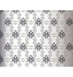 Damask floral pattern background vector