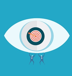 Eyes target and business man vector image vector image