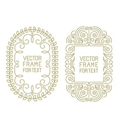 floral frames with copy space vector image