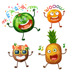 Funny fruit character isolated on white background vector