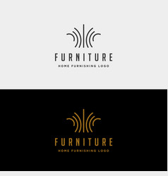 furniture logo design icon icon isolated vector image