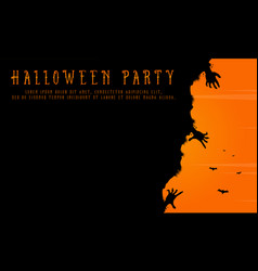Halloween party background greeting card vector
