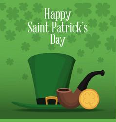happy saint patricks day card vector image
