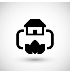 Home heating system icon vector