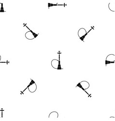 hookah pattern seamless black vector image