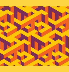 isometric labirynth pattern vector image
