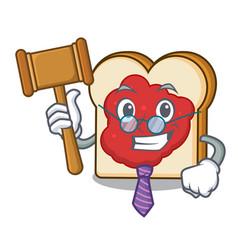 Judge bread with jam mascot cartoon vector