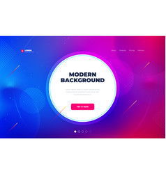 liquid color background design with circle fluid vector image