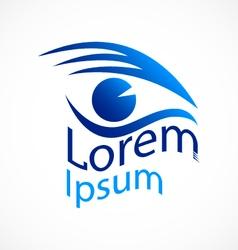 Logo blue eye vector