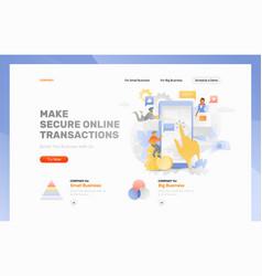 make online transactions header template vector image