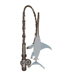 marlin swordfish marine wildlife fishing rod vector image