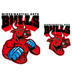 Mma fighter bull vector