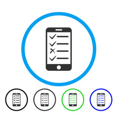 mobile test rounded icon vector image