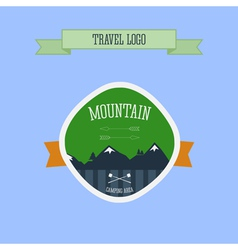 Mountain Camping logo label and badge Travel vector image