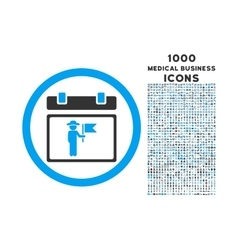 National Holiday Day Rounded Icon with 1000 Bonus vector image
