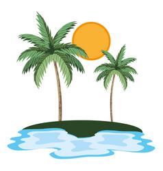 Nature palms cartoon vector
