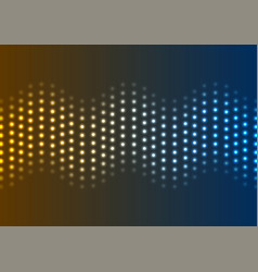 neon led lights abstract wavy background vector image