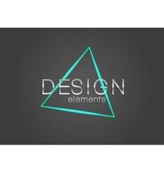 Neon triangle design element vector