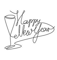 new year abstract drinks vector image