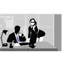 Office clerks vector