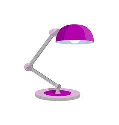 office table lamp icon in flat style vector image