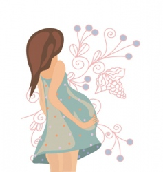 pregnant floral vector image