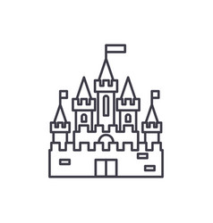 princess castle line icon concept princess castle vector image