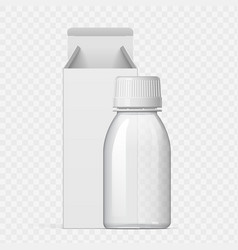 realistic white cosmetic bottle and packaging vector image
