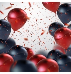 Red And Black Balloon Bunch vector image