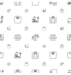 Scales icons pattern seamless white background vector