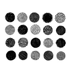 set hand drawn scribble circles on white vector image