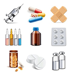 Set medicaments vector