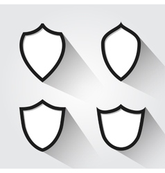 set of modern black and white shields vector image