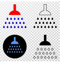 shower eps icon with contour version vector image
