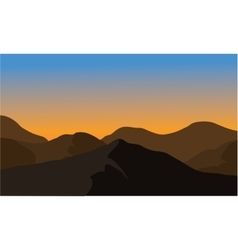 Silhouette of dry mountain vector image