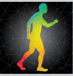 silhouettes of people doing fitness and crossfit vector image