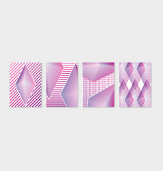 simple geometric minimal covers design set modern vector image