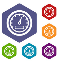 speedometer icons set vector image