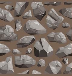 Stone rock rockstone mountain or rocky vector