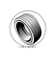 tire on white background vector image