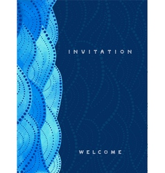 Vertical invitation card on navy blue background vector